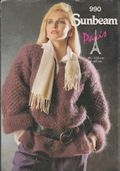 *Original Vintage Knitting Pattern Ladies Loose Fitting Mohair Wide Sleeve Sweater ​​​​​​​